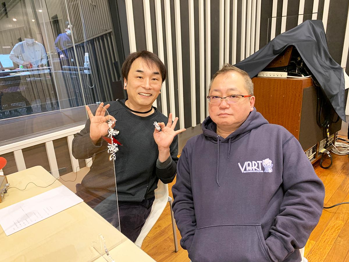 三間監督、関さん ラジオ収録現場