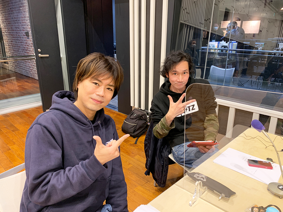 三木主将、浪川副主将 ラジオ収録現場
